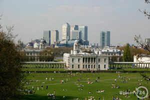 Canary Wharf as seen from Greenwich Park